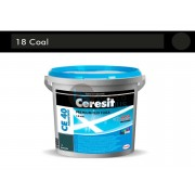 Elastingas plytelių siūlių glaistas CE40, Coal, 5 kg